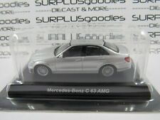 KYOSHO 1:64 Scale Silver MERCEDES-BENZ C-63 C63 AMG 4-Door Sedan w/Plastic Box