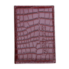 Passport Holder Protector Wallet Business Card Soft Passport Cover Leather US