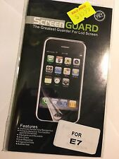Screen Guard Protector Clear for Nokia E7-00  SCG4494 Brand New & Sealed in pack