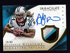 DeAngelo Williams 2015 Immaculate Signature 3 color Patch on Card Auto /60