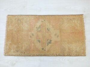 Door Mat 1.5x2.7,Turkish Rug,Vintage Rug,Bohemian Rug,Antique Rug,Old Floor Mat.