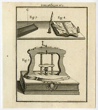 Antique Print-PHYSICS-PRESS-BOOK-INK-FEATHER-Nollet-1745