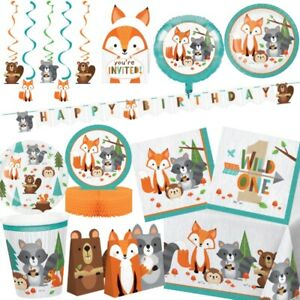 Wild Woodland Animals Party Tableware, Decorations & Balloons