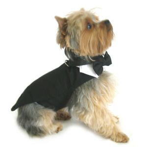 Doggie Design Dog Tuxedo Harness w/Tails, Bow Tie and Cotton Collar XS-3XL