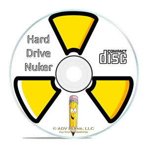 Hard Drive Wipe Erase Bleach Format Destroy Data Clean PC Disk Eraser Cleaner CD