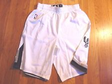 ADIDAS NBA AUTHENTIC SAN ANTONIO SPURS WHITE LIGHT WEIGHT GAME SHORTS SIZE L+2""