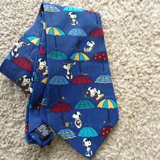 """SNOOPY & FRIENDS Men's Silk Tie """"The Cool Is In The Jeans"""" 3.75""""x 57"""" Snoop Dog"""