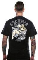 Lucky 13 T Shirt men Jenn Bomber Girl Hot Rod Drag Race Motorcycle Tattoo