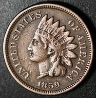 1859 INDIAN HEAD CENT - With LIBERTY - VF VERY FINE+