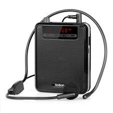 5W Portable Voice Amplifier Loudspeaker W/FM Radio MP3 Player Power Bank US Ship
