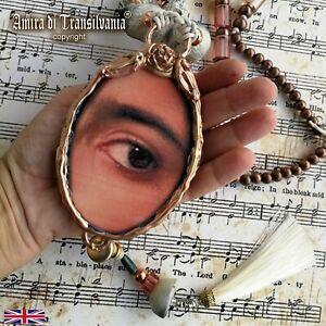 necklace women fine jewelry vintage jewel antique style talisman art deco eyes 1