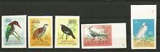Vietnam du Nord 1963 oiseaux 5 timbres non dentelés non oblitérés MNH /T6348