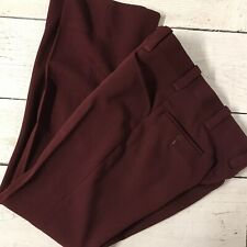 Vintage The Knack Retro Maroon High Waist Polyester Pants Flare 70's Flat Front
