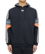 adidas Team Signature Hoodie Pull Over Stripes Running Training Navy ED7174
