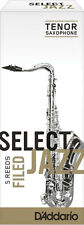 """D'ADDARIO SELECT JAZZ """"FILED"""" ANCHES SAXOPHONE TENOR 3 SOFT"""