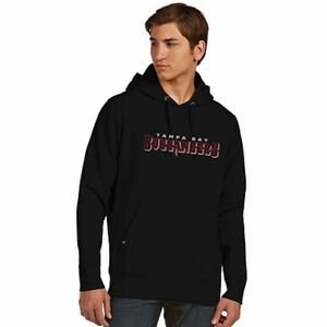 New Tampa Bay Buccaneers Full Embroidery Hooded Pullover Sweatshirt Mens 2XL