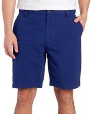 ROBERT GRAHAM Mens Blue Gingham Striped Flat-Front Shorts NWT $148 Waist 40