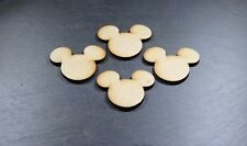 Disney Mickey Mouse Heads X15 Mini Mdf Blank Shapes Christmas Decoration Wooden