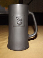 "VINTAGE BAR BARWARE PLAYBOY BUNNY RABBIT 6 1/4"" HIGH BEER STEIN GLASS MUG"