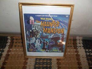 Vintage 1970 Walt Disney Framed Small Haunted Mansion Read & Play LP