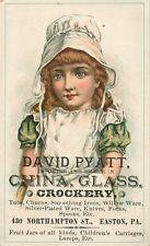 Victorian Tradecard, David Pyatt, China, Glass & Crockery, Easton PA 1887