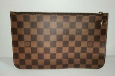 Authentic Louis Vuitton Neverfull Pouch GM Damier Ebene Red Interior - USA