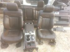 10 Ford F-150 Platinum Edition brown leather seats center console door panels