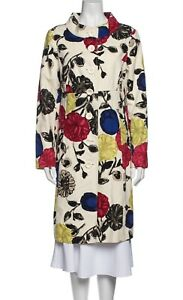 $899 NWOT MOSCHINO Cheap and Chic small linen blend floral trench coat jacket