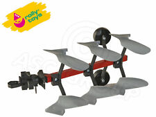 Rolly Toys-Plough - 3 Furrow Metal & Plastic-Réversible Design-Metal Frame