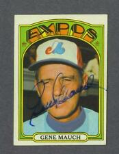 Gene Mauch signed Montreal Expos 1972 Topps baseball card 1925-2005