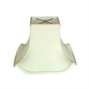 "Off-White Pagoda Lampshade Shantung Silk Lamp Shade  Fabric Rectangular 14"" NEW"