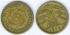 Weimarer Republik  5 Reichspfennig 1926 E  gutes vz