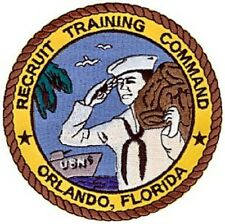 United States NAVY Recruit Training Command Orlando, Florida Military Patch RTC