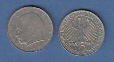 Bundesrepublik Kursmünze 2 Mark Max Planck 1966 F