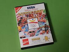 Olympic Gold Barcelona'92 boxed Sega Master système Cartouche de jeu-US Gold