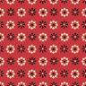 Clothworks Wigglebutts  Red Geometric Flower Y2841-82  fabric
