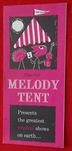 1961 Cape Cod Melody Tent Brochure (schedule, order form) Hyannis, Ma.