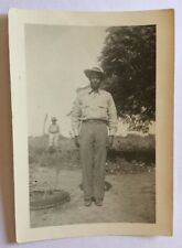 Vintage African American Photograph Young Man On The Farm