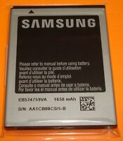 OEM 3.7 V Li-Ion Samsung Android Cell Phone Battery EB524759VA, 1650mAh, 6.11 Wh