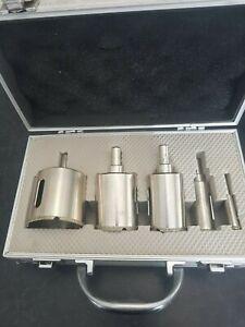 PTX 5 Piece Dry Diamond Core Drill Bit Set Kit Glass & Tile