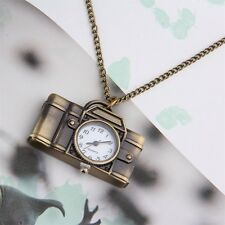 Vintage Cartoon Camera Sweater Chain Watch Pendant Necklace Korean Style BN