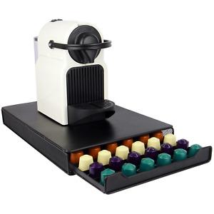 Nespresso 60 Pod Holder Drawer Capsule Storage & Coffee Machine Stand M&W
