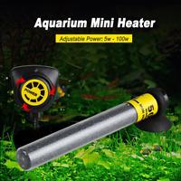 20-100W Mini Aquarium Fish Tank Submersible Water Heater Adjustable Thermostat