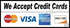 "We accept Credit Cards Decal 12"" Concession Food Truck Restaurant Sticker"