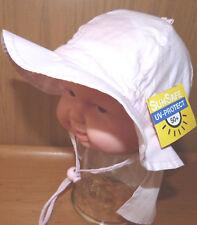 UVSchutz KU42,43,44,45,46 NACKENSCHUTZ Sommer Sonnen Hut BABY Mädchen Junge weiß