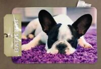 "Mohawk Home French Bulldog Bath Mat 20"" x 30"" New"