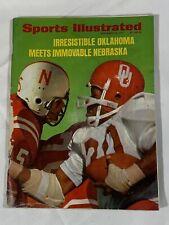 SPORTS ILLUSTRATED NOVEMBER 22, 1971.  OU Meets Nebraska. Fair Condition.