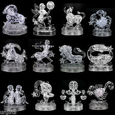 3D Crystal Puzzle Jigsaw Model Clear White Twelve 12 Signs of Zodiac Astrology