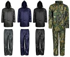Men's Waterproof Windproof Rain Jacket and Trousers Set Rainsuit size S-4XL