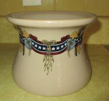 Home & Garden Party Patriotic Stoneware Crock - Americana 2003